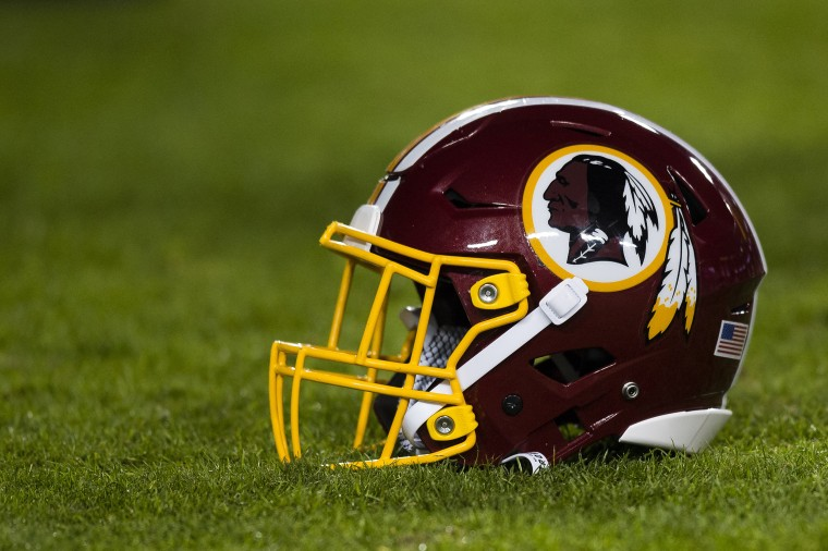 Image: Washington Redskins helmet on field