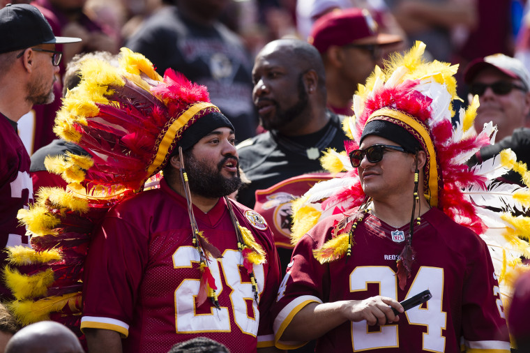 Image: Washington fans cheer during a game against the Philadelphia Eagles at FedExField in Landover, Maryland.