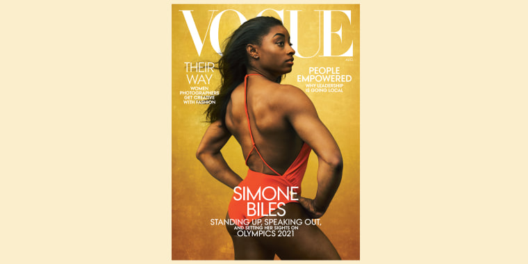 Simone Biles spoke with Abby Agguire for the August issue of Vogue.