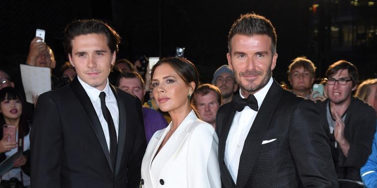 Brooklyn, Victoria and David Beckham