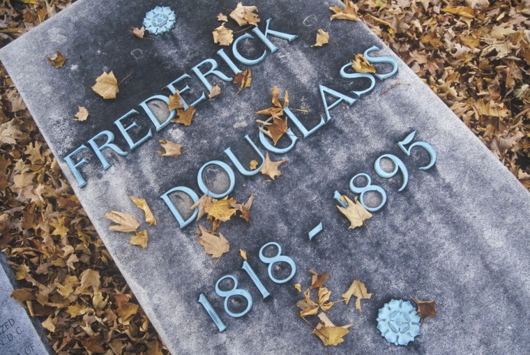 Image: Headstone at the grave of Frederick Douglass, Rochester, New York