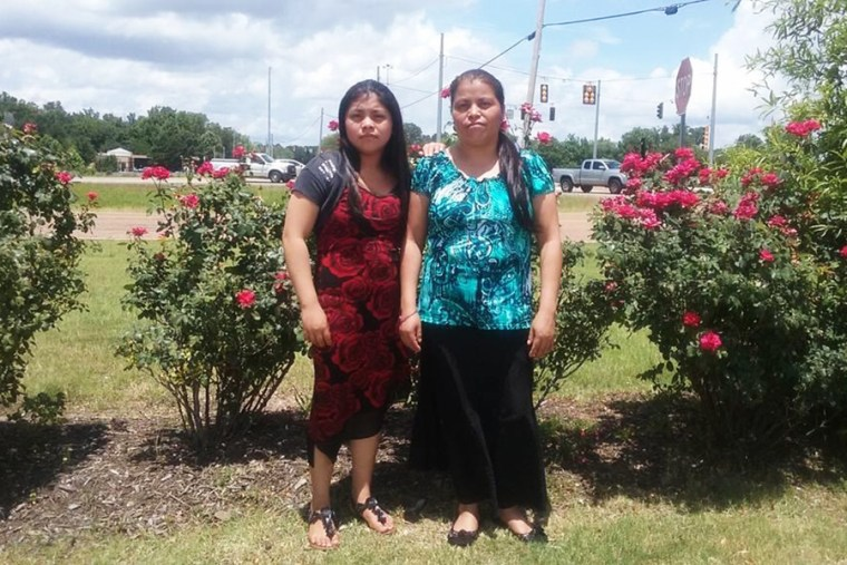 Marlene Jose with her mother, who died alone in the hospital on June 15.