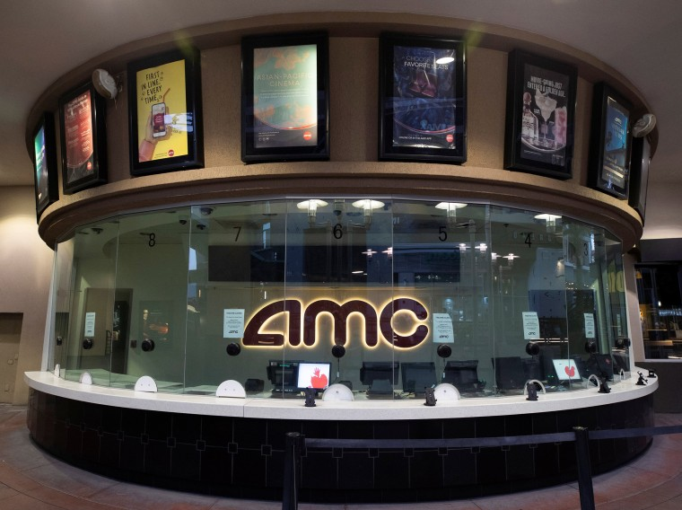 Image: The box office of the AMC theatre in Burbank