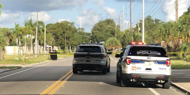 Image: St Petersburg Florida police investigation