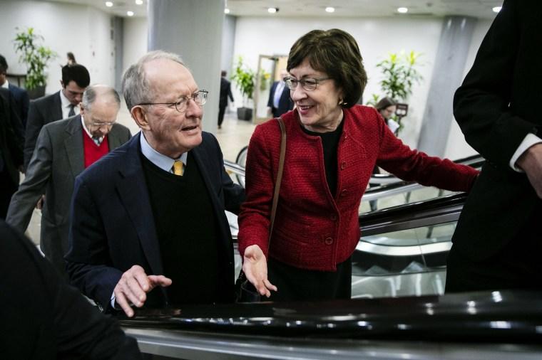 Image: Senator Lamar Alexander and Senator Susan Collins