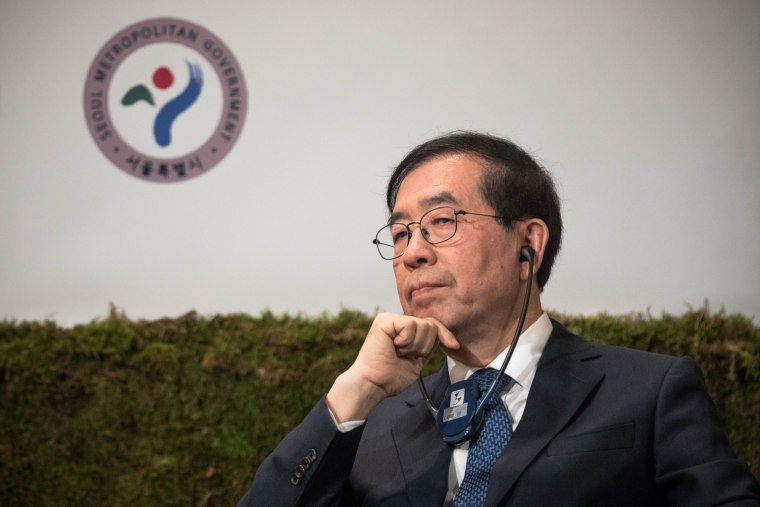 Image: Mayor of Seoul Park Won-soon had been tipped as a potential presidential candidate in 2022.