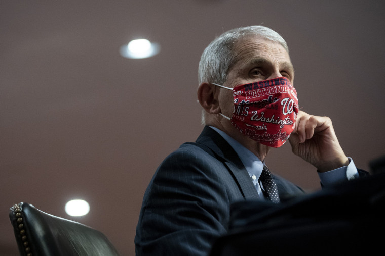 Image: Anthony Fauci during a hearing on Capitol Hill