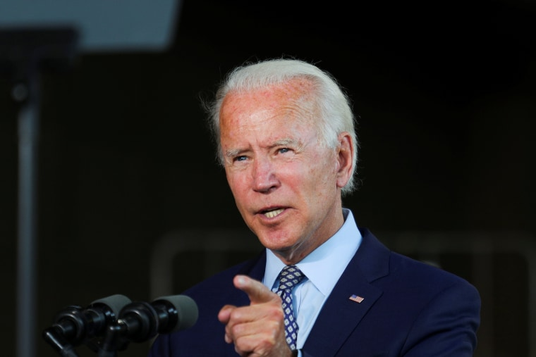 Image: Joe Biden speaks about the U.S. economy during a campaign event at McGregor Industries in Dunmore