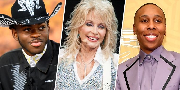 Lil Nas X, Dolly Parton, and Lena Waithe.