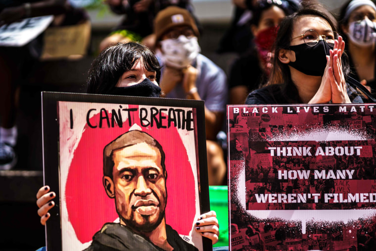 Image: Protesters at Hennepin County Government Center
