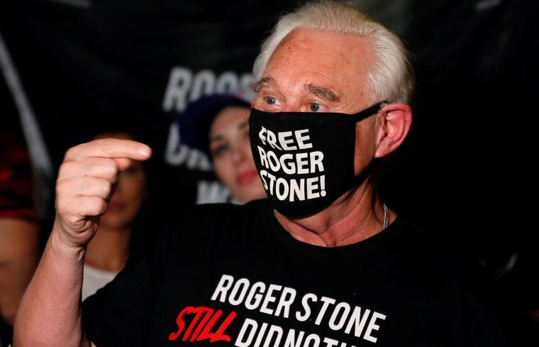 Image: Roger Stone reacts after Trump commuted his federal prison sentence in Fort Lauderdale