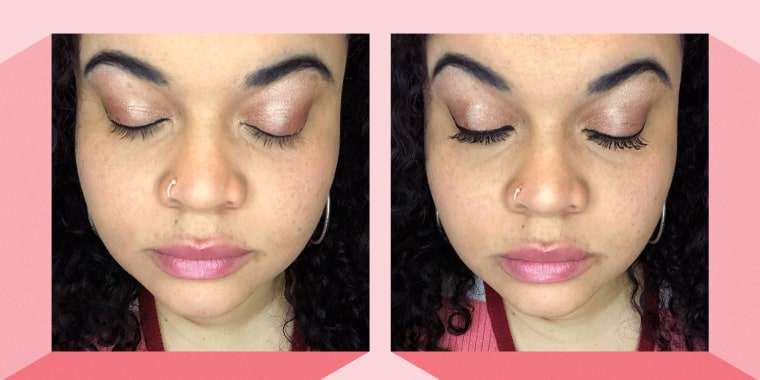Kayla Boyd shows off bestseller Essence Princess False Lash Effect mascara.