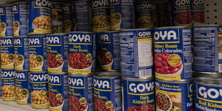 Products by Goya Foods Company seen on shelves of Stop&Shop