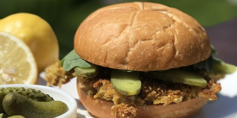 Alon Shaya's Oyster Schnitzel Sandwich