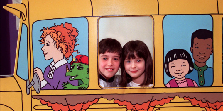 """Kids play at a """"Magic School Bus"""" museum exhibit in Minnesota. Joanna Cole's books made science easy to understand and fun for children around the world."""