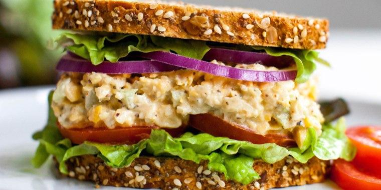 "Jenn? Claiborne's Vegan Chickpea ""Tuna"" Sandwich"