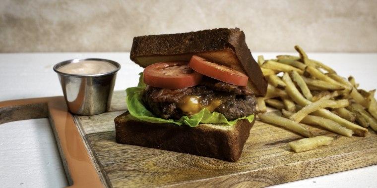 Kwame Onwuachi's Jerk Bacon Patty Melt Sandwich