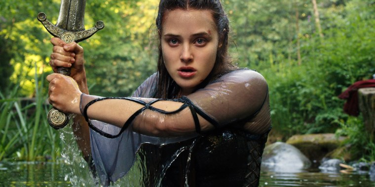 """Katherine Langford stars as Nimue in the new series """"Cursed"""" on Netflix."""