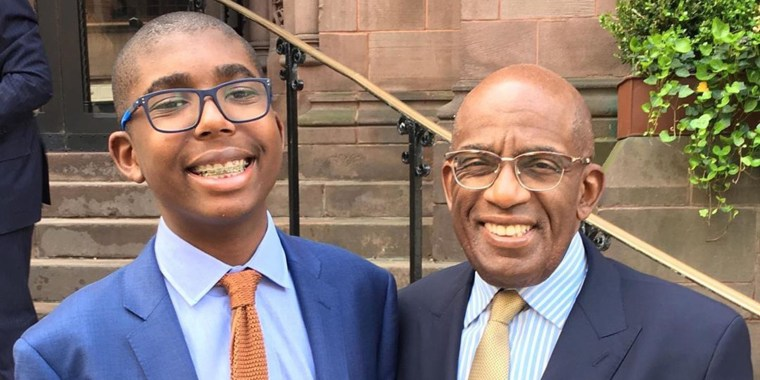 Al Roker and his son, Nick