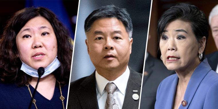 Rep. Grace Meng, D-N.Y., Rep. Judy Chu, D-Calif., and Rep. Ted Lieu, D-Calif.