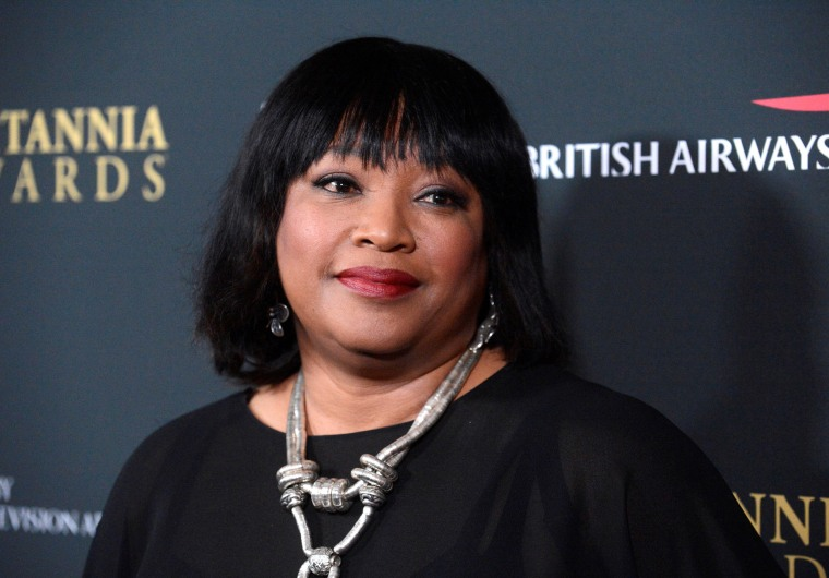 Image: Zindzi Mandela, former South African president Nelson Mandela's daughter, attends the BAFTA Los Angeles Britannia Awards in Beverly Hills, California.