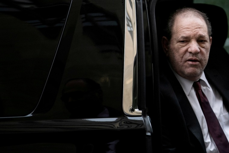 Harvey Weinstein arrives at New York Criminal Court for his sexual assault trial in New York City on Feb. 20, 2020.