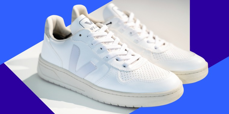 """""""Unlike most white sneakers that fade into the crowd,"""" writes Blake Johnson, """"Veja lets you stand out with unique colors that personalize the shoe to your style — even if that means no color at all."""""""
