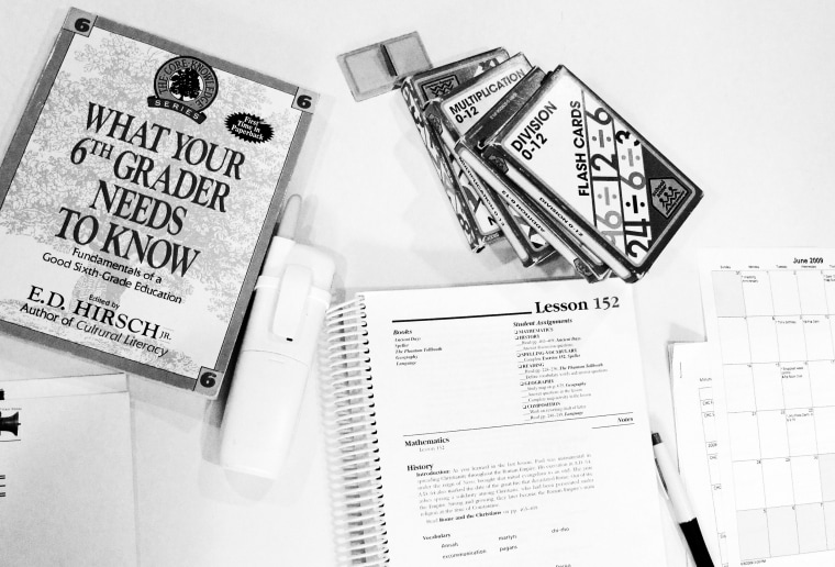 Image: Teaching aids and exercise books for homeschooling