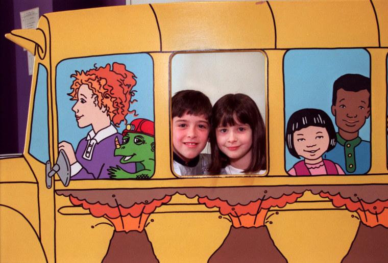 Image: Kids play at The Magic School Bus exhibit.