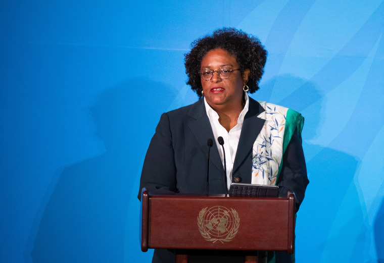 Image: Mia Mottley, Barbados' prime minister, speaks during the United Nations Climate Action Summit in New York.
