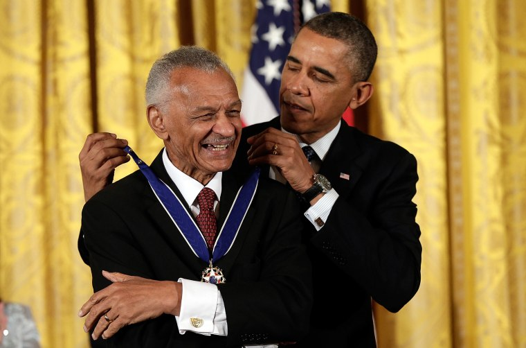 Image: President Barack Obama awards the Presidential Medal of Freedom to C.T. Vivian in the East Room at the White House.