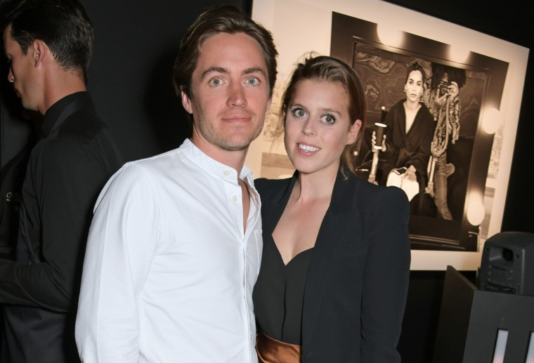 Image: Edoardo Mapelli Mozzi and Princess Beatrice of York attend a photography exhibition in London, England.