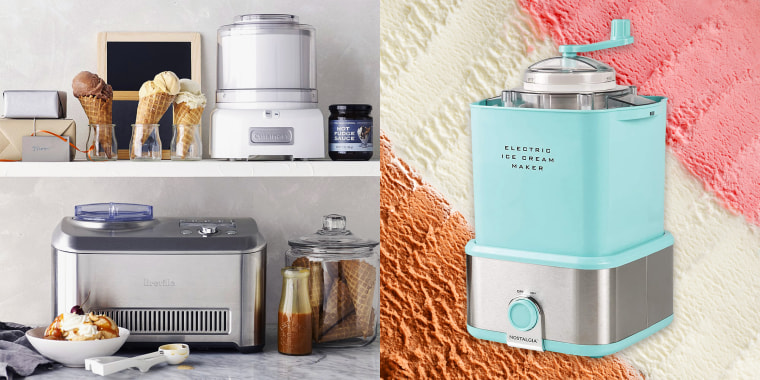 Make your own ice cream at home with machines from brands like Cuisinart, Breville and Nostalgia.