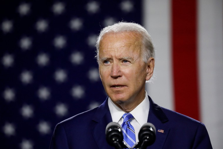 Image: Democratic presidential candidate Biden holds campaign event in Wilmington, Delaware