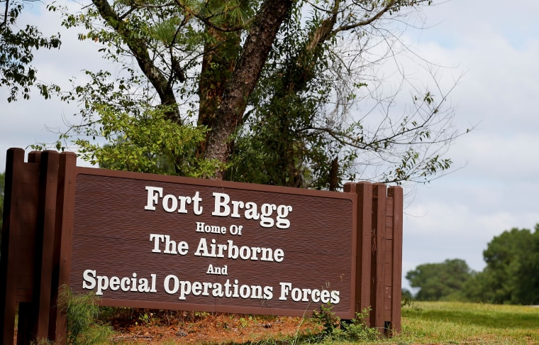 Image: The entrance to Fort Bragg in Fayetteville, N.C., in 2014.