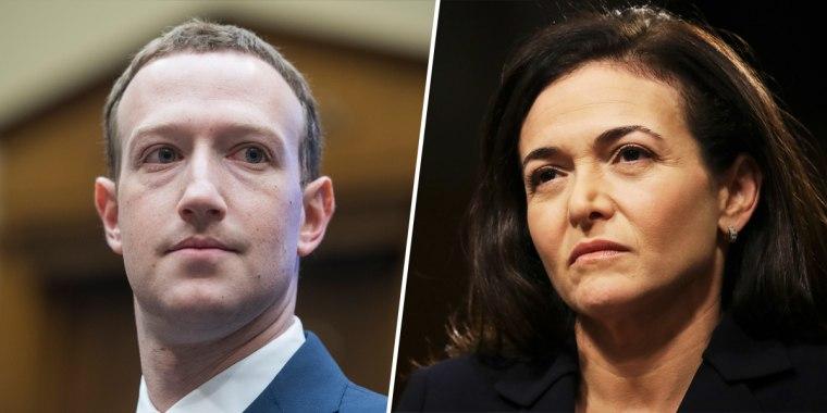 Mark Zuckerberg; Sheryl Sandberg.