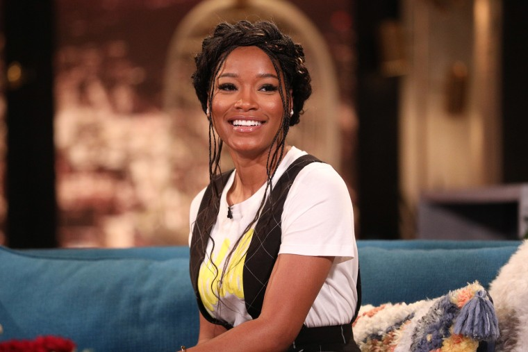 Image: Keke Palmer on the set of Busy Tonight.