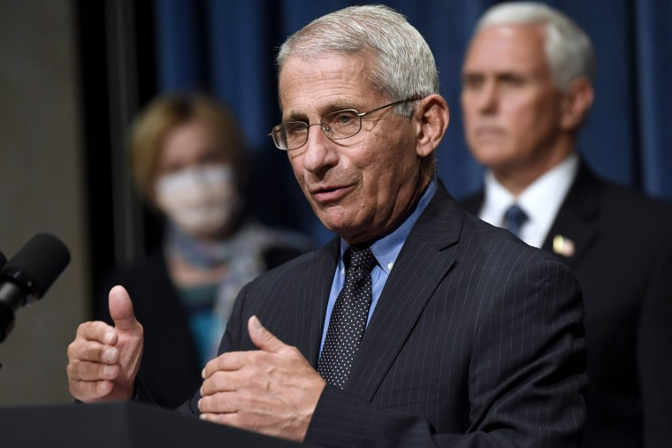 Dr. Anthony Fauci speaks during a news conference in Washington, D.C., on June 26, 2020.