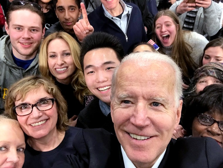IMAGE: Joe Biden with Victor Shi and other supporters