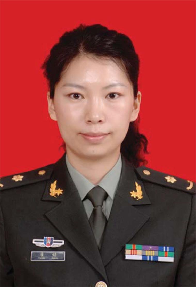 Image: Tang Juan in military uniform.