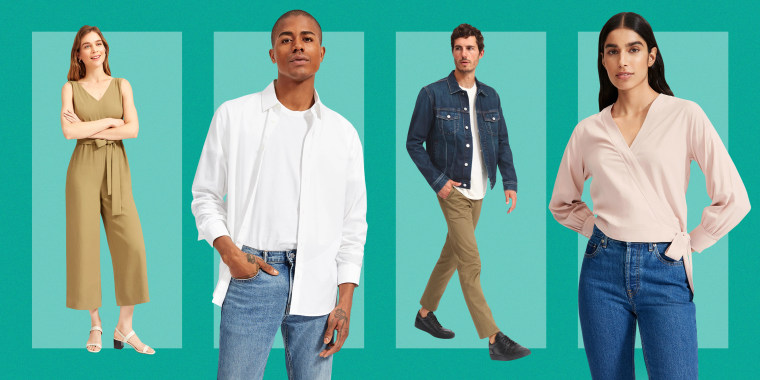 Everlane is having a summer sale on items including The Japanese GoWeave Essential Jumpsuit, The Standard Fit Performance Dress Shirt, The Denim Jacket and The Washable Silk Wrap Top.