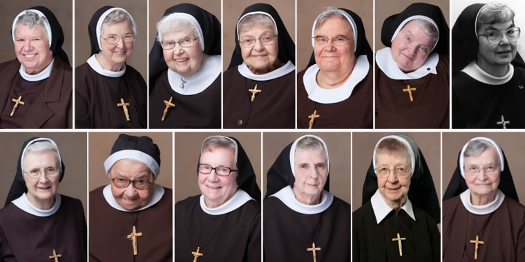The 13 sisters who died from the coronavirus in 2020 at a convent in Livonia, Michigan.