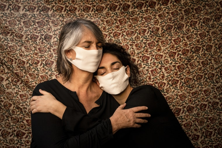 """Self portrait with the photographer's mother. """"Together we do the daily exercise of accompanying, guiding and caring for ourselves. We have adopted new forms, routines and rituals to live together and respect each other in this new way of coexisting. Chile has been under strict lockdown for more than three months."""""""