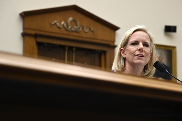 Homeland Security Secretary Kirstjen Nielsen testifies before the House Judiciary Committee on Capitol Hill on Dec. 20, 2018.