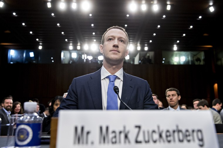 Facebook CEO Mark Zuckerberg during a Senate hearing.