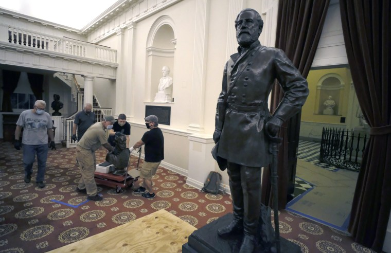 Image: Virginia State Capitol confederate monuments removed