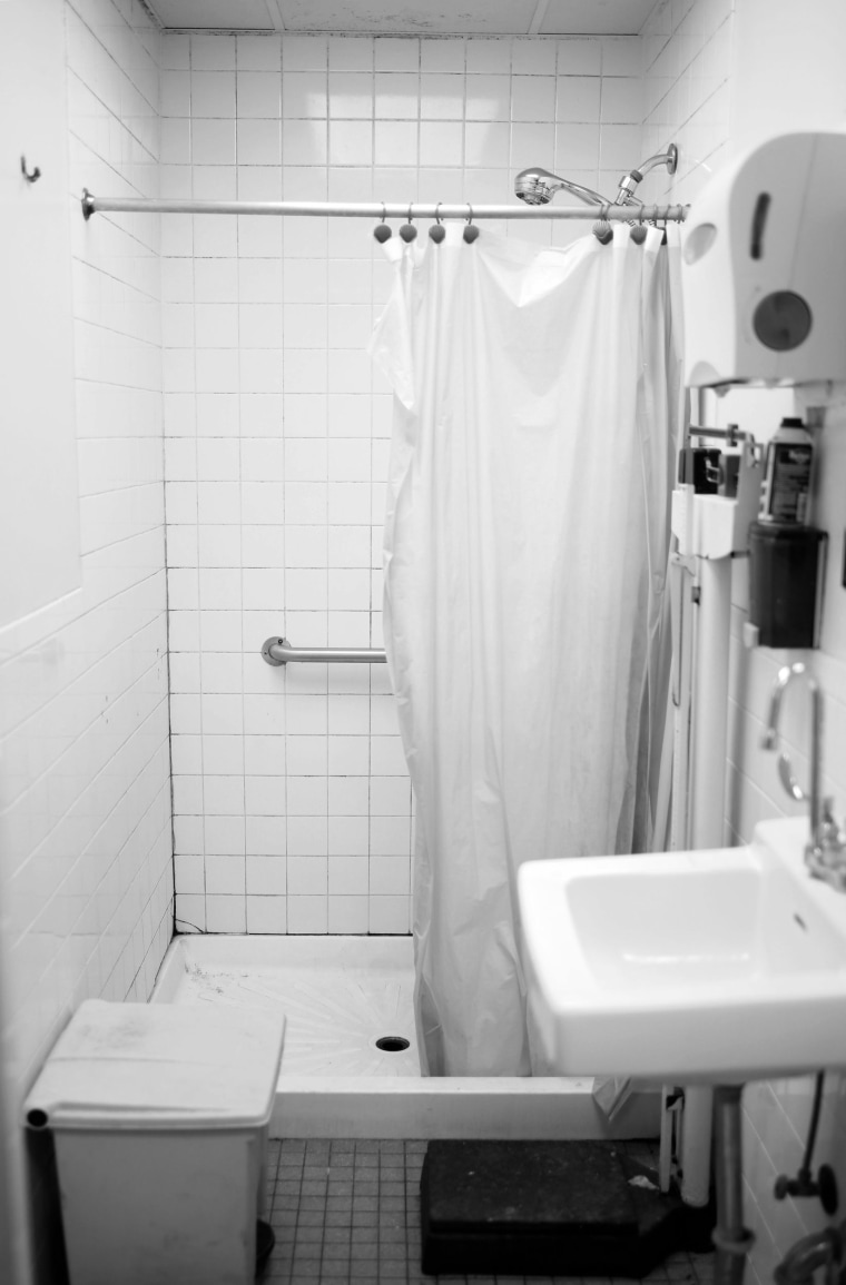 Image: A bathroom at the shelter.