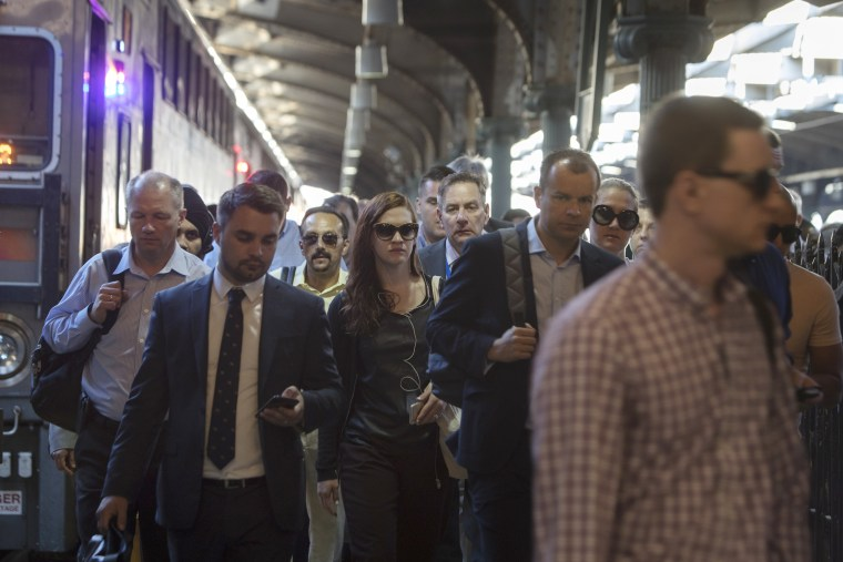 Image: Commuters At Hoboken Terminal