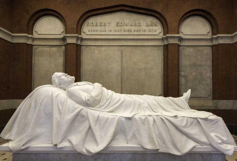 """Recumbent Statue"" of Robert E. Lee"
