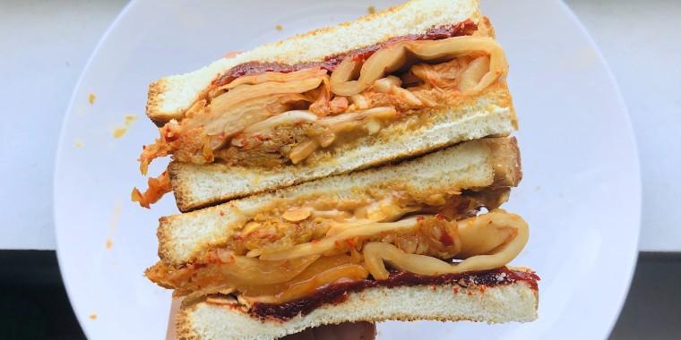 Emi Boscamp's Peanut Butter and Kimchi (PB&K) Sandwich